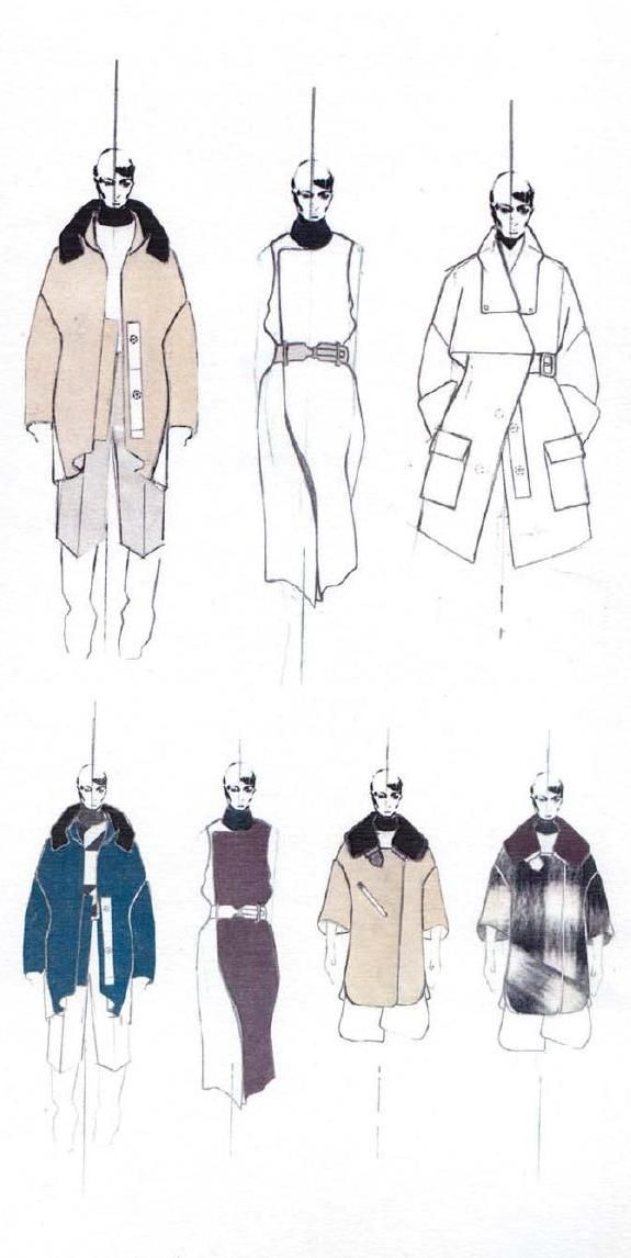 Fashion Sketchbook - fashion drawings, fashion design portfolio layout // Andrew Voss