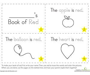 printable coloring booklets - Preschool Color Books