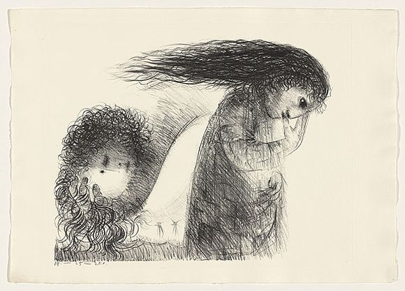 Arthur Boyd: 'St Francis when young turning aside.'  Lithograph1965
