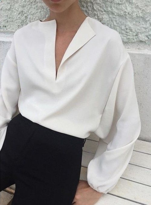TOTEME LOVE everything about this!! You could wear your Topless Tee womens undershirt invisibly and protect this gorgeous blouse from the inside!