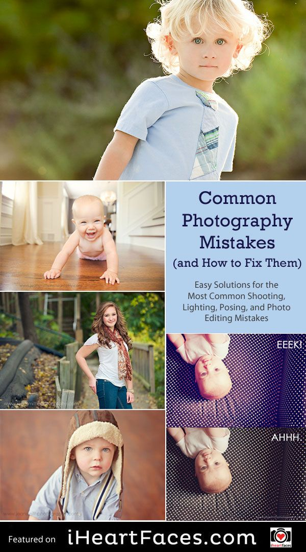 Common Photography Mistakes and How to Fix Them - Tutorial Series by Jean Smith for I Heart Faces Photography Blog