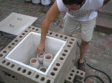 Build it yourself Raku firebrick kiln