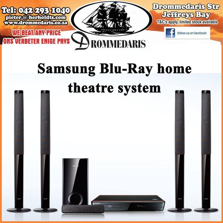 The Samsusng Blu-Ray home theatre system has USB ports, 2 HDMI inputs and a range of other features to enhance your home theater experience. #appliances #homeimprovement #lifestyle