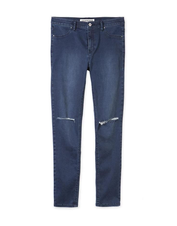 Mid-Rise Torn Jegging