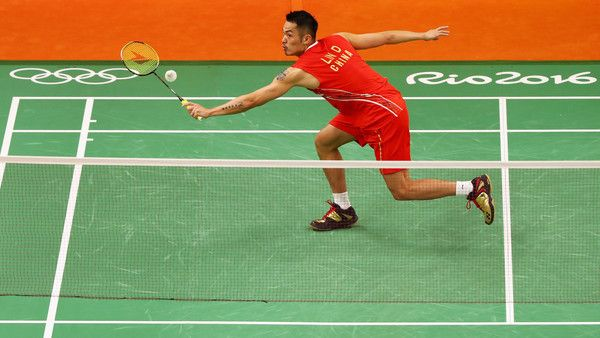Lin Dan Photos Photos - Lin Dan of China competes against David Obernosterer of Austria in the Mens Singles on Day 6 of the 2016 Rio Olympics at Riocentro - Pavilion 4 on August 12, 2016 in Rio de Janeiro, Brazil. - Badminton - Olympics: Day 6