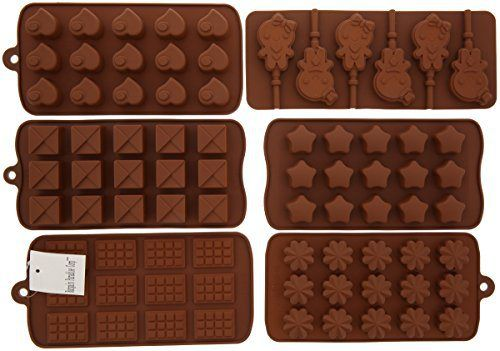 6pc Chocolate Molds, Lollipop Mold, Candy Molds, Ice Molds, Silicone Molds, Silicone Baking Molds- (Set of 6 Silicone Molds and 30pc Lollipop Sticks) - http://bestchocolateshop.com/6pc-chocolate-molds-lollipop-mold-candy-molds-ice-molds-silicone-molds-silicone-baking-molds-set-of-6-silicone-molds-and-30pc-lollipop-sticks/