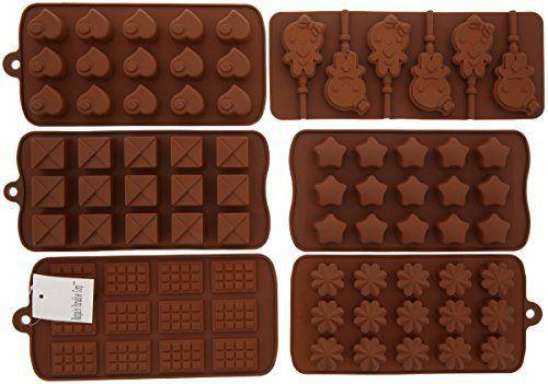 6pc Chocolate Molds, Lollipop Mold, Candy Molds, Ice Molds, Silicone Molds, Silicone Baking Molds- (Set of 6 Silicone Molds and 30pc Lollipop Sticks) - http://bestchocolateshop.com/6pc-chocolate-molds-lollipop-mold-candy-molds-ice-molds-silicone-molds-silicone-baking-molds-set-of-6-silicone-molds-and-30pc-lollipop-sticks/