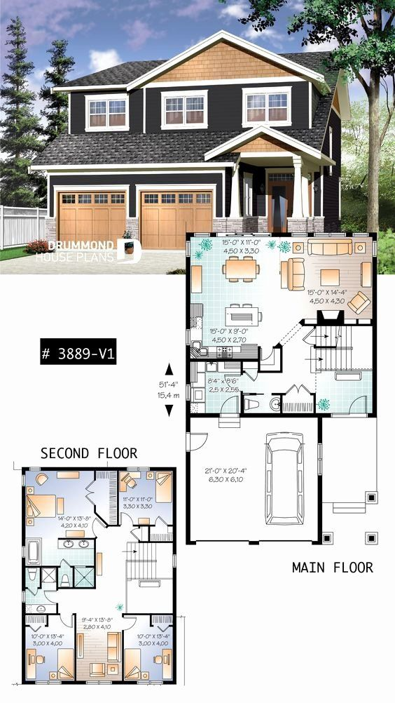 2 Bedroom Craftsman House Plans Unique House Plan Addison 2 No 3889 V1 In 2020 House Blueprints Craftsman House Plans Sims House Plans