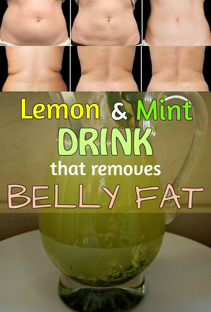 Homemade lemon and mint drink that removes belly fat