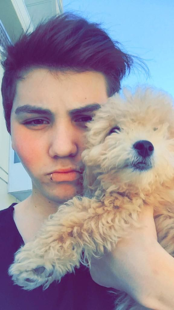 Sam Pottorff :) it look like hes holding coco lol