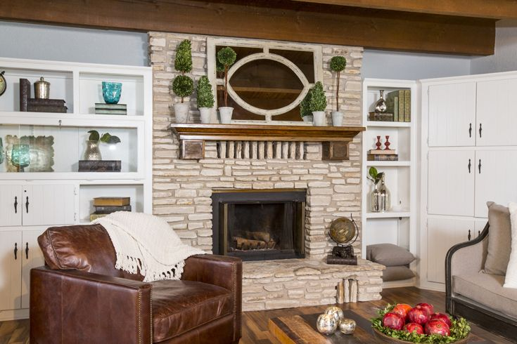 As seen on HGTV's Fixer UpperHome Fireplaces, Fixer Upper Mantels, Hgtv S Fixer, Hgtv Fixer, Upper Gray, Fixer Upper On Hgtv, Fixer Upper Show