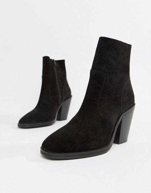 9e22be935a6 DESIGN Espresso suede ankle boots