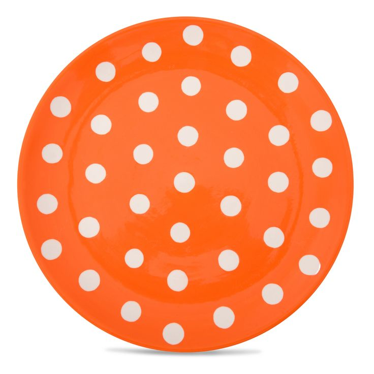 Buy the Florence Orange Spot Dinner Plate, part of the Florence Collection of hand-painted stoneware at Whittard of Chelsea