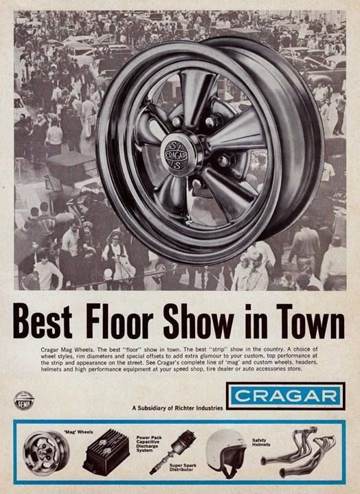 Vintage Cragar ad. Wheels, Ignition, helmets, and headers ...