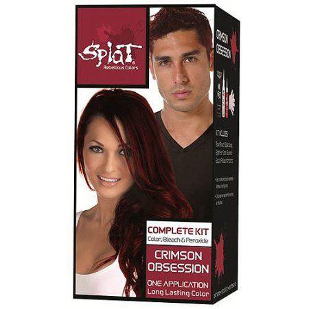 Splat Complete Kit Crimson Obsession Semi Permanent Red Hair Dye With Bleach Walmart Com Splat Hair Color Permanent Red Hair Dye Permanent Hair Dye