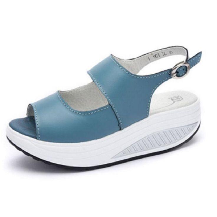 Fashion Women Summer Sandals  Swing Shoes Ladies Platform Wedges Sandals Shoes Black Red Woman Sandalias Size 35-40 #Affiliate