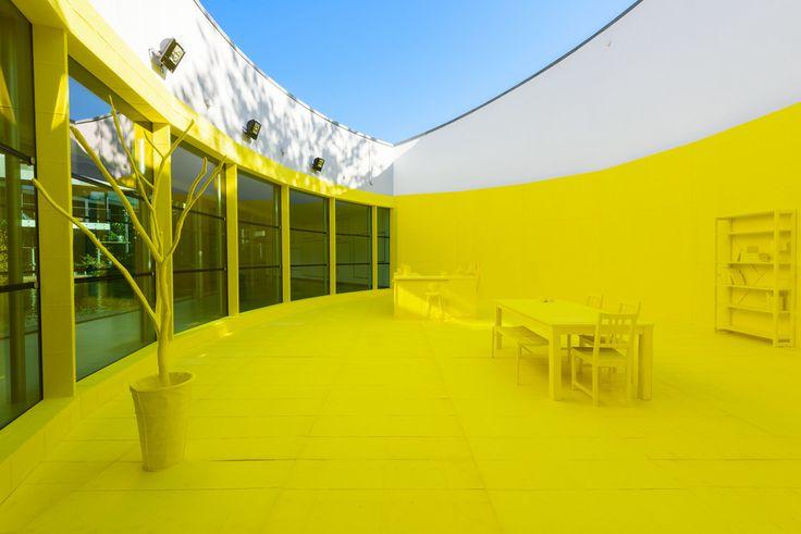 yellow interior van abbemuseum - Google Search