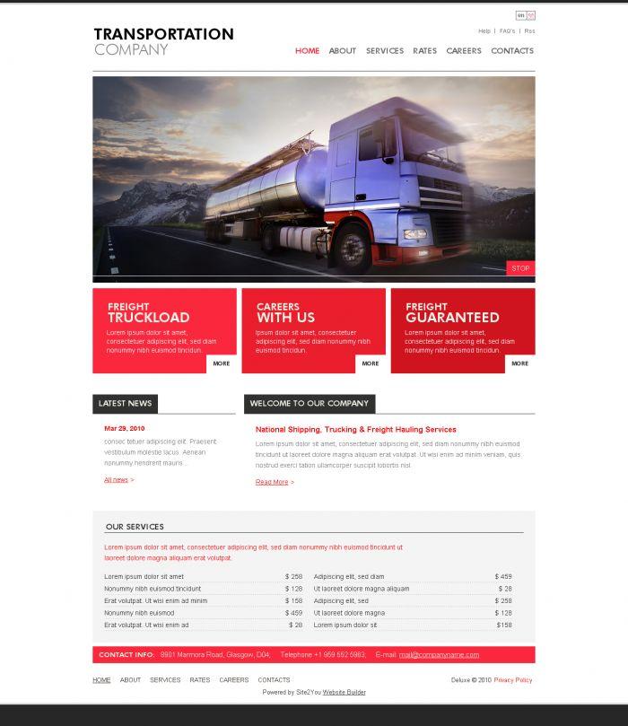 trucking and transport company web design idea 03