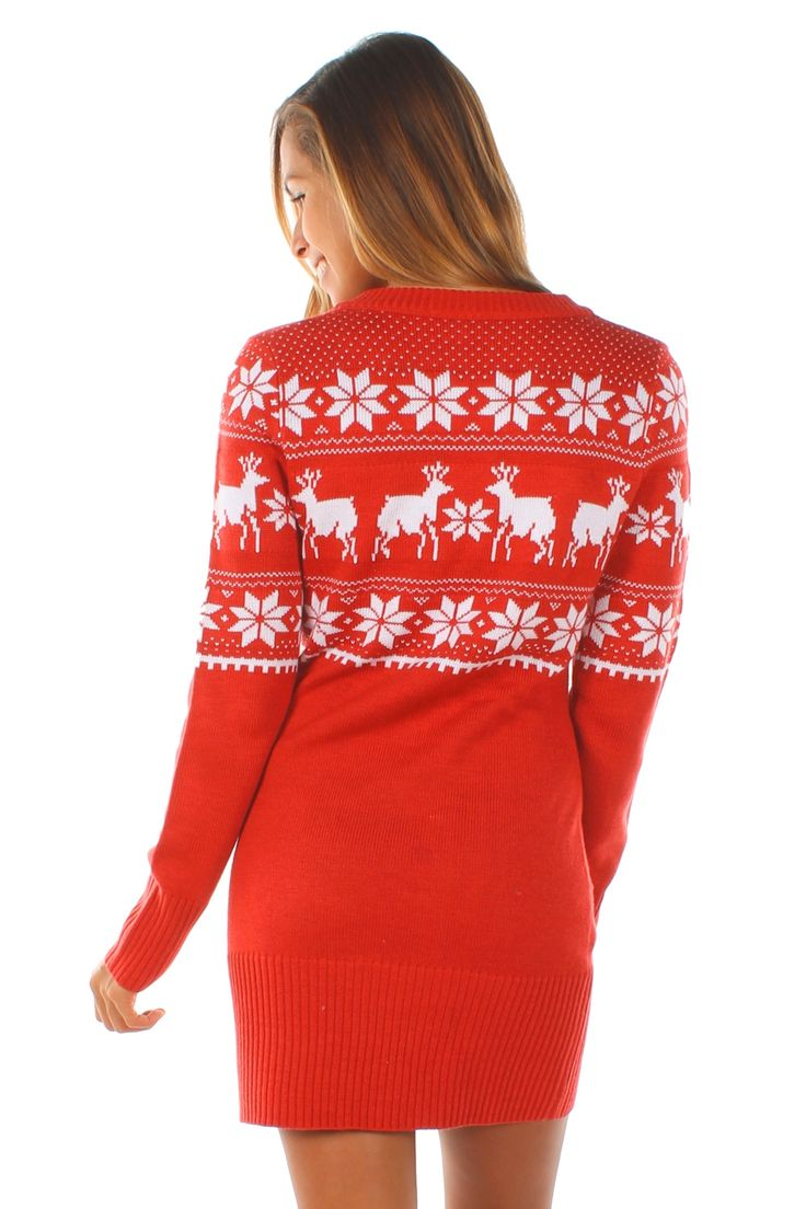 Fair Isle Christmas Sweater Dress | Tipsy Elves