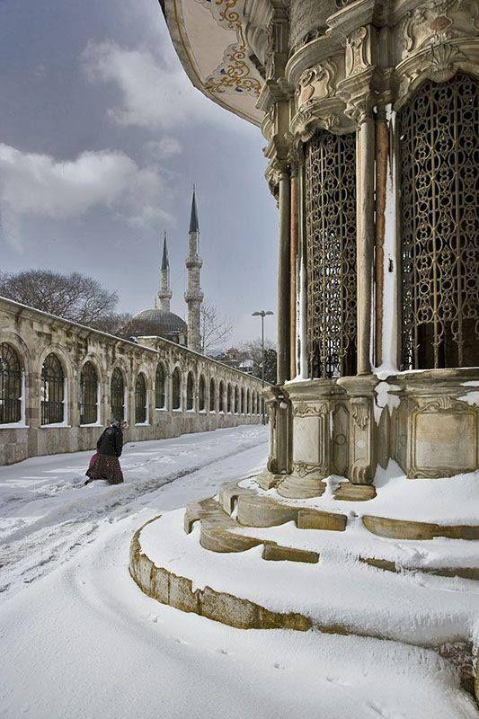 Istanbul under snow. Turkey.