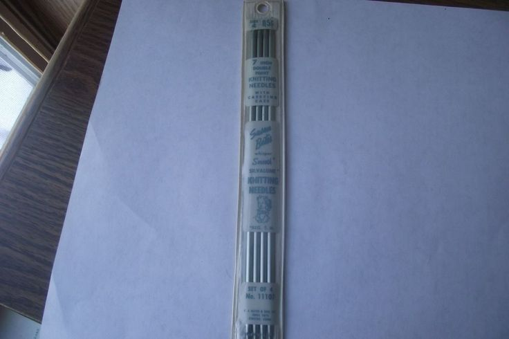 Vintage Susan Bates 7Inch Size 4 Double Point Knitting Needles Set of 4 Carrying #SusanBates