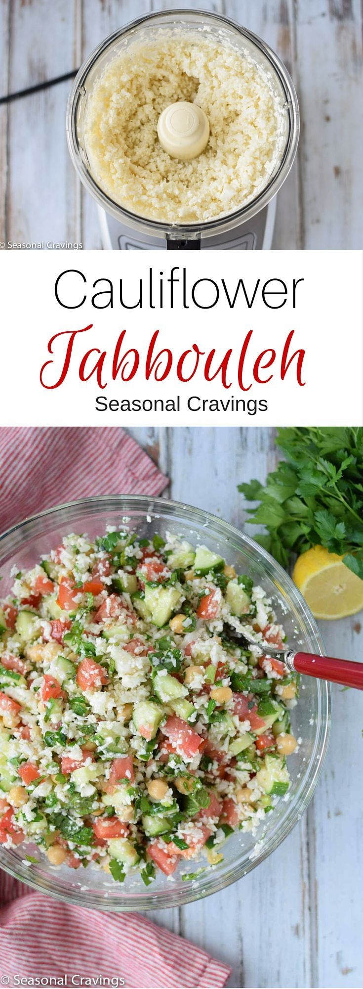 Cauliflower Tabbouleh is the perfect healthy, detox salad to fill your body�