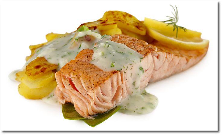 Lachs mit Bärlauch Kräuter Sauce