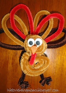 409 best thanksgiving images on pinterest crafts for for Pipe cleaner turkey craft