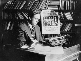 Jack Reed in his study. 10 days that shook the world