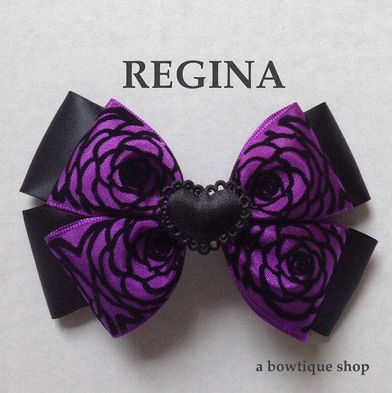 regina hair bow by abowtiqueshop on Etsy ouat once upon a time evil queen