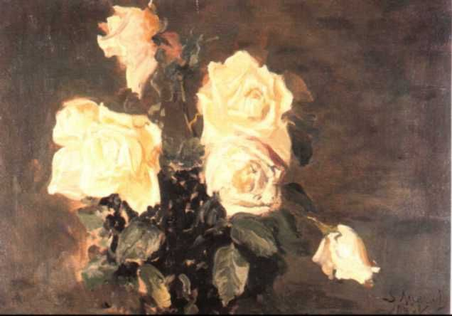 Leon Wyczółkowski - White Roses