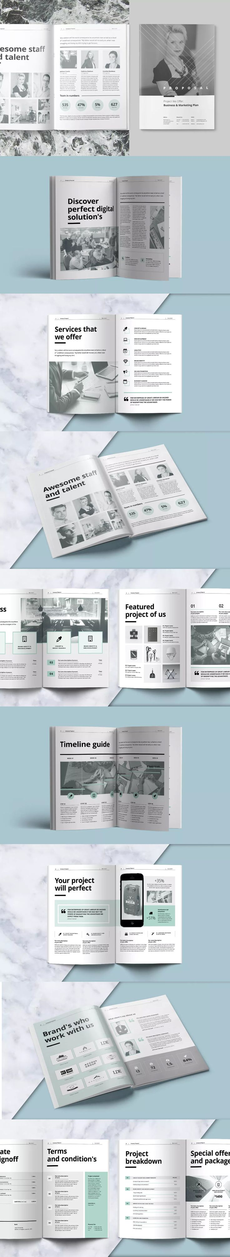 Proposal Template InDesign INDD A4 and US