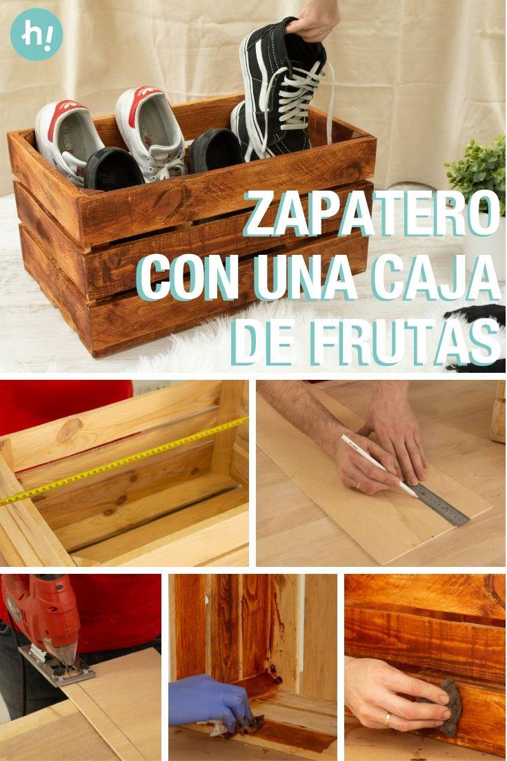 Como Crear Un Zapatero Con Una Caja De Frutas Organizador De Zapatos Casero Como Hacer Un Zapatero Cajas
