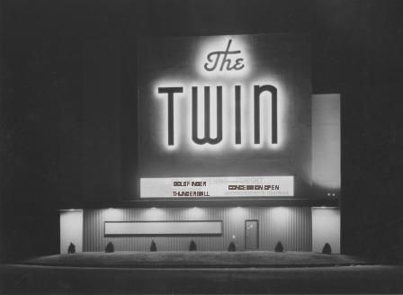 Twin Drive In Theater (1952 - 1985) Canyon E-Way (where the Georgia Street Super Walmart is now located)