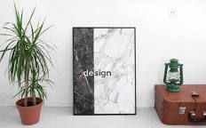DESIGN MARBLE POSTER/ Black and White/ Modern and Urban ...