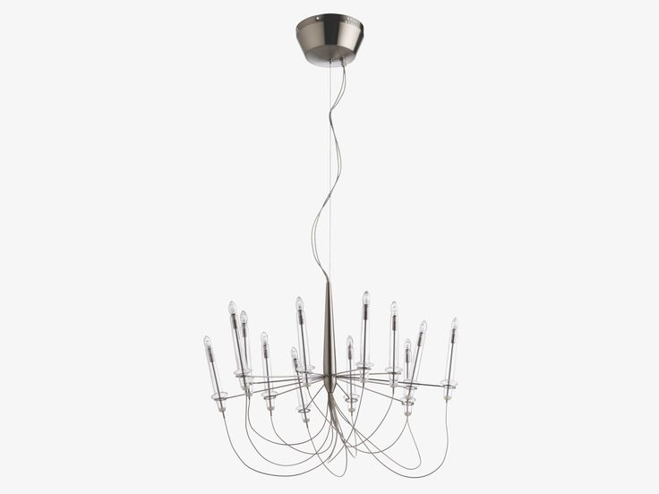 Lille silver metal metal chandelier habitatuk
