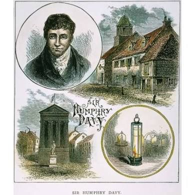 Humphry Davy (1778-1829) Nenglish Chemist Pictured With Bottom ...