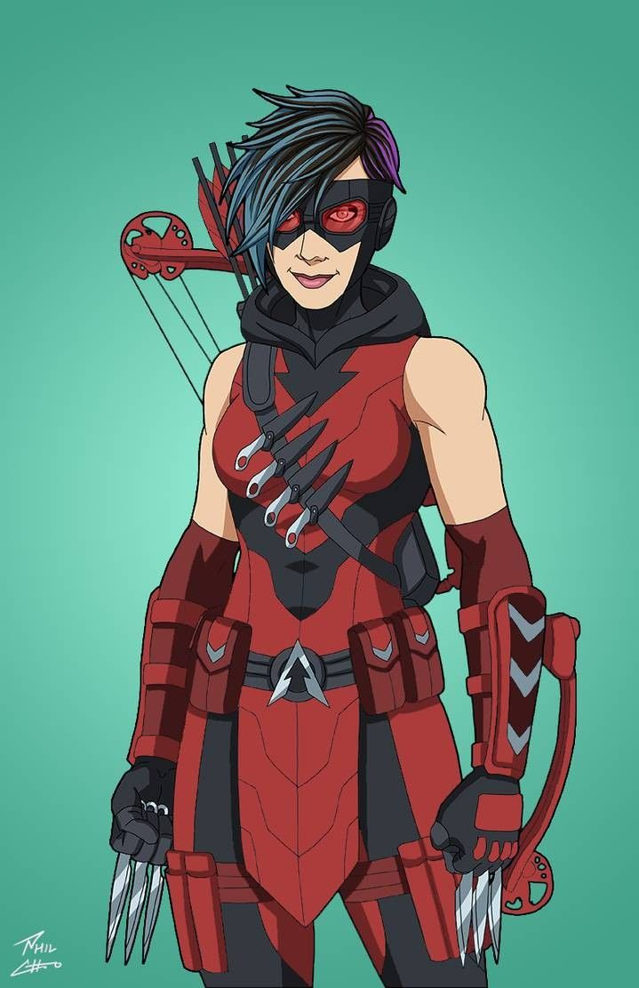 Emiko Queen Red Arrowette In 2020 Red Arrow Superhero Art Avengers Coloring Pages