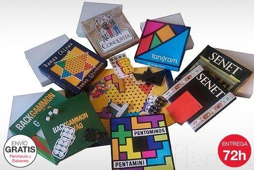 #juegos de mesa: Damas China, Tangram, Senet, Pentominos, Backgammon y Conquista ¡Horas y horas de diversión!
