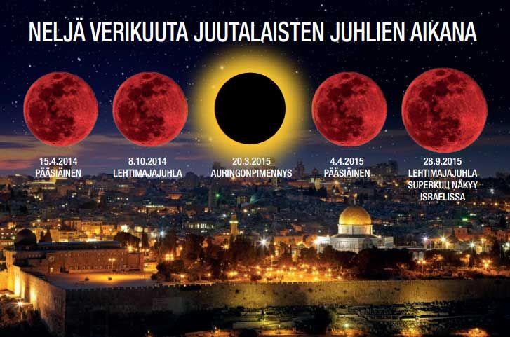 Neljä verikuuta, punaista kuunpimennystä - Linnunrata.org