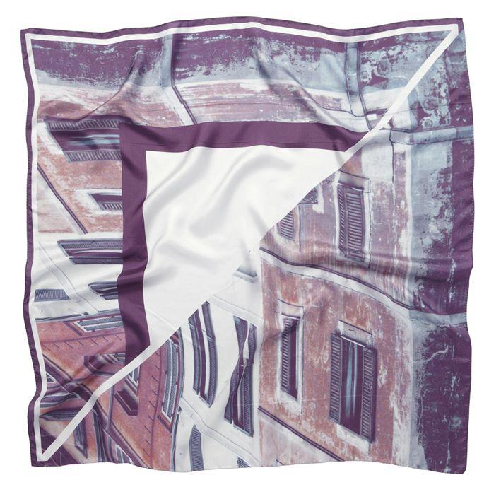 """REBUILDING ROME"" silk twill scarf 90x90cm. New season SS13/14 from Good & Co"