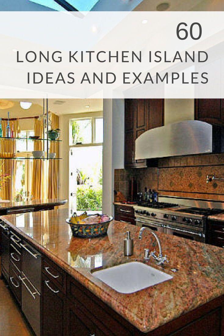 long kitchen island ideas and examples photos kitchen ideas