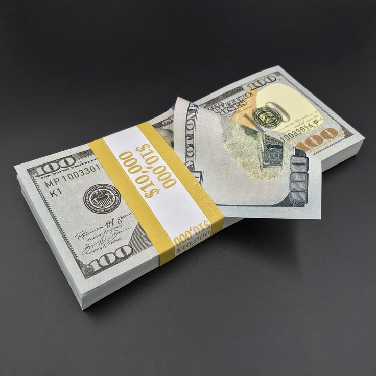 10,000 Full Print New Style Prop Money Stack Money