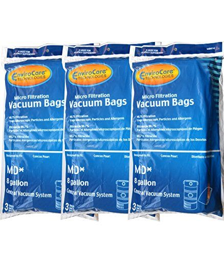 9 Modern Day MD 8 Gallon Microfiltration Central Vacuum Cleaner Bags:   Designed to fit these vacuum models and more: ModernDay A, B, B2, J, K, and SR; Flo-Master M19, M31, M32, M34, M45, M64, M72, M85, and M92; Silent Master open bag units under 34 inches in total length; Action open bag units under 34 inches in total length; AirFlo open bag units under 34 inches in total length; Brute open bag units under 34 inches in total length; PowerKing, Pow-R-King open bag units under 34 inches...