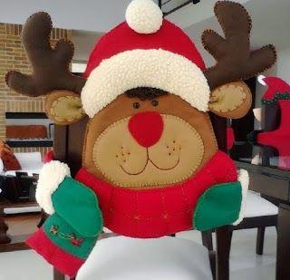 Cubresillas navideño