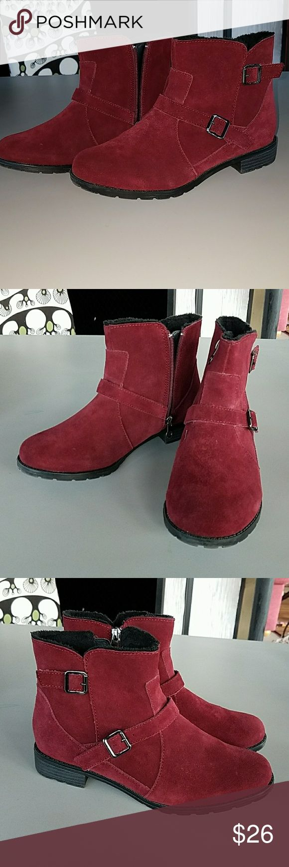 Sporto boots booties ankle, Leather sz 8 Very soft and great condition . Color is more of a raspberry red. No issues Sporto Shoes Ankle Boots & Booties