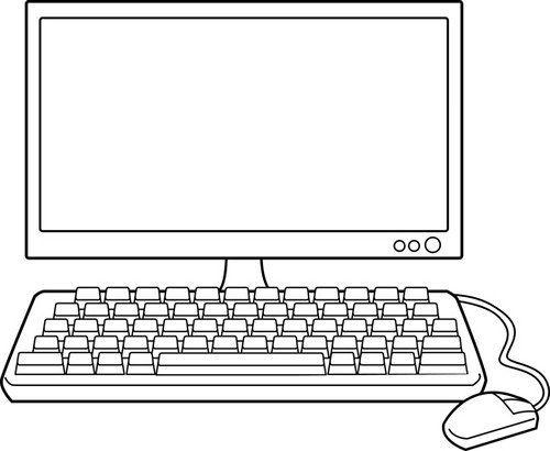 Dibujos de computadoras para colorear e imprimir - Mesa de dibujo portatil ...