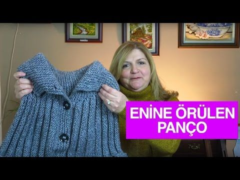 Örgü ile Enine Örülen Yetişkin Bayan Pançosu - Örgü Modelleri - YouTube