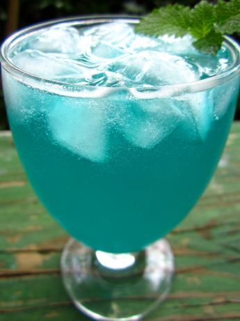 Electric Lemonade: vodka, blue curacao, prepared sweet-and-sour mix, 7-Up soda or Sprite