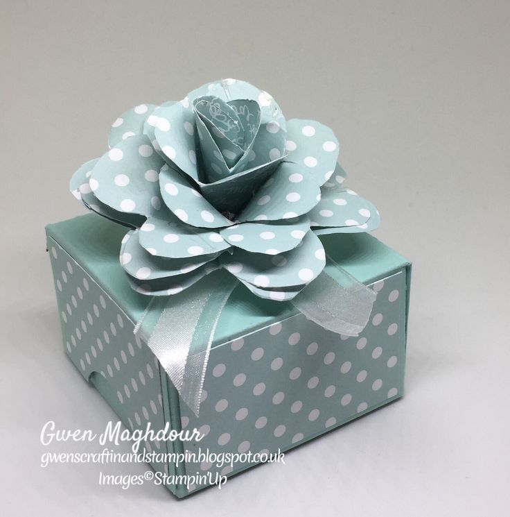 """Paper Rose Gift Box, the box is 3 x 3 x2"""", made using Subtles DSP stack."""